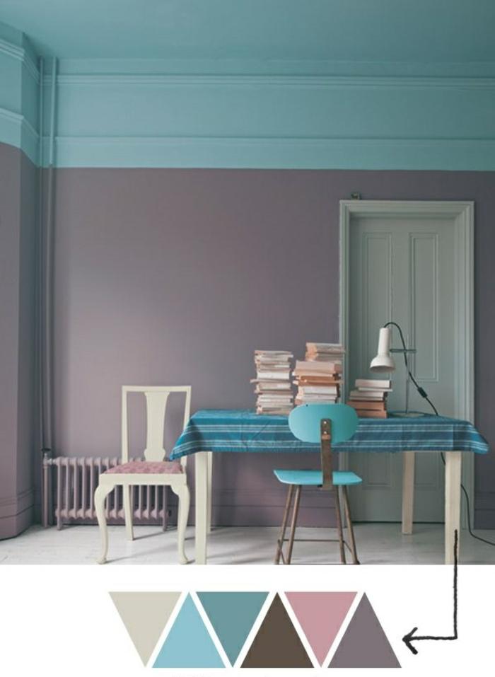 déco-salle-de-séjour-en-violet-claire-couleur-parme-bien-aménagée