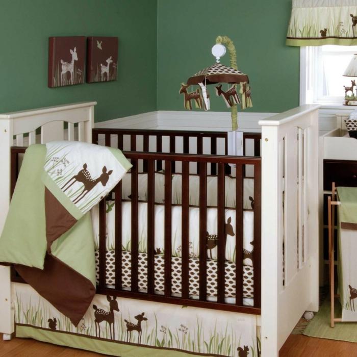 deco-chambre-bebe-lit-linge-de-lit-bébé-pas-cher-belle