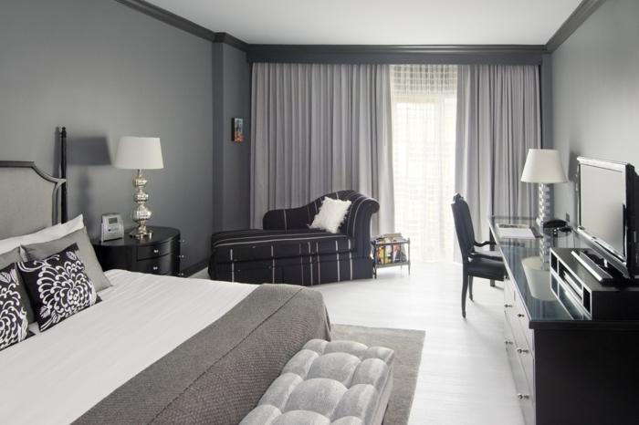 deco-chambre-grise-chambre--détails-colorés-dans-la-chambre-à-coucher