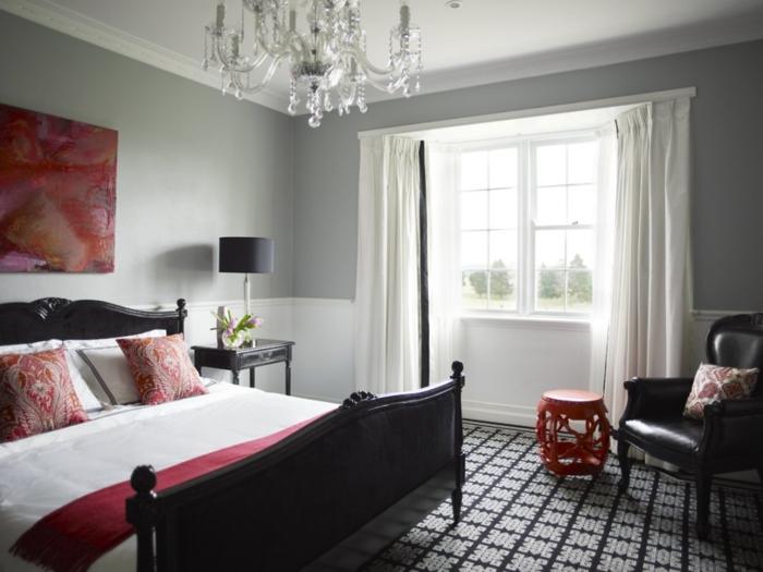 La chambre grise 40 id es pour la d co - Deco maison rouge et gris ...