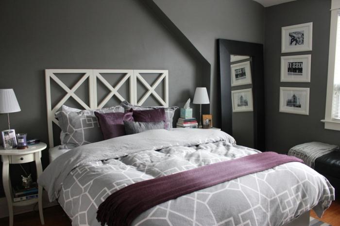 deco-chambre-grise-chambre-noir-et-blanc-peinture-chambre-gris-chambre-taupe-idée