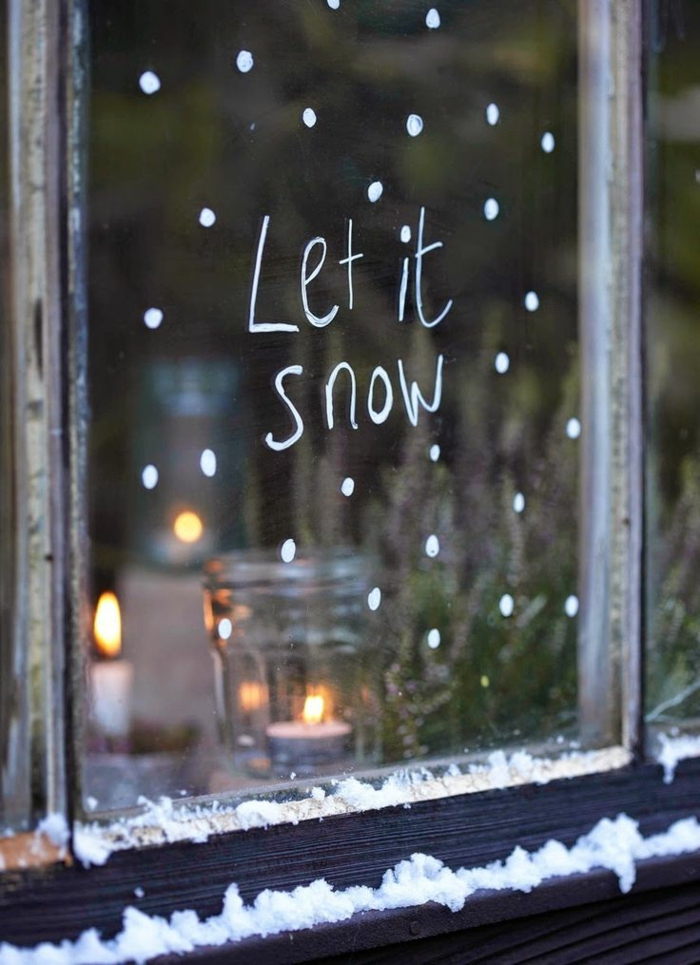 design-de-la-déco-noël-à-fabriquer-maison-cool-let-it-snow