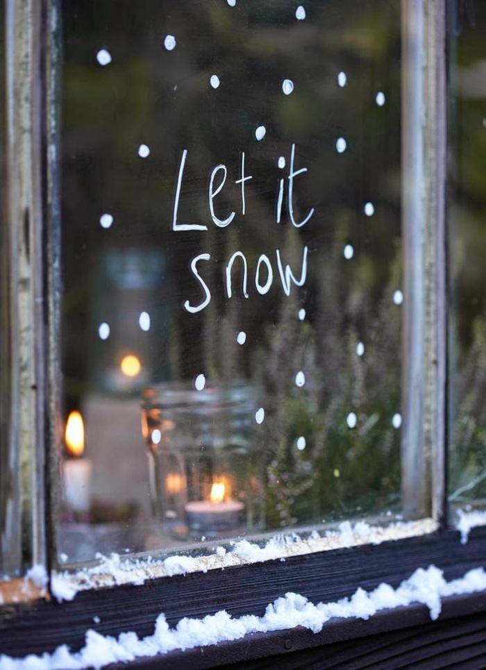 design-de-la-déco-noël-à-fabriquer-maison-cool-let-it-snow