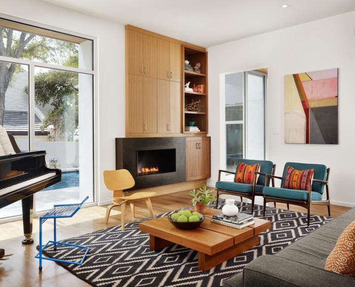 design-tapis-pour-salon-moderne-intérieur-contémporaine-noir-et-blanc-confort