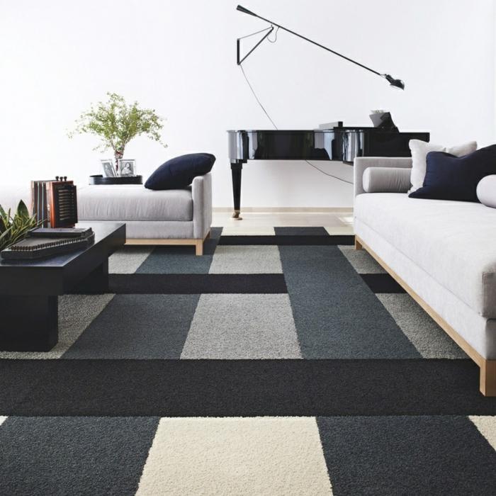 design-tapis-pour-salon-moderne-intérieur-contémporaine-noir-et-blanc