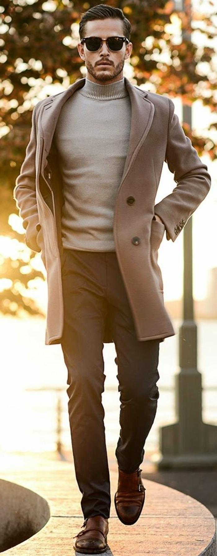 doudoune-homme-manteau-caban-homme-hiver-beige-alée