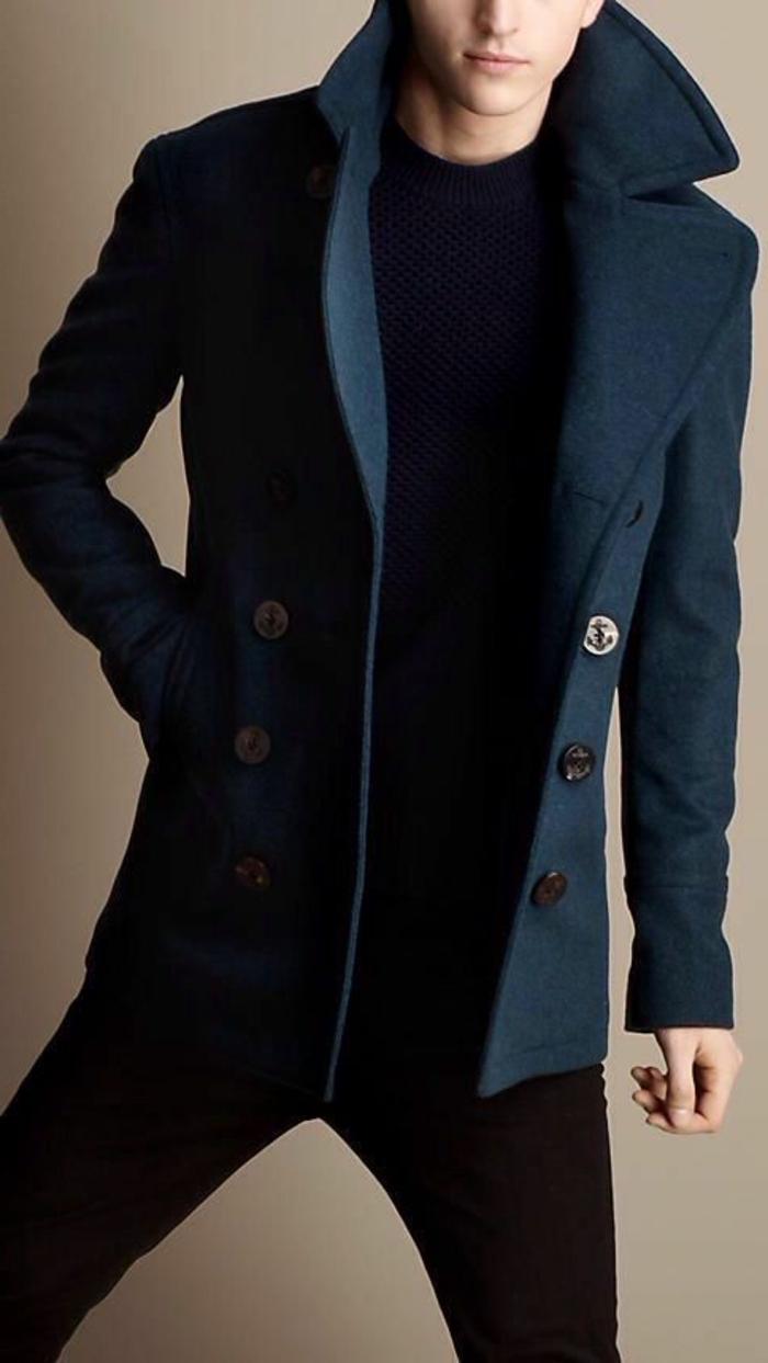 doudoune-homme-manteau-caban-homme-hiver-idée-en-navy-bleu-marine