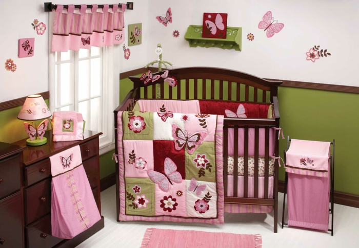 ensemble-linge-de-lit-bébé-linge-lit-bebe-papillons