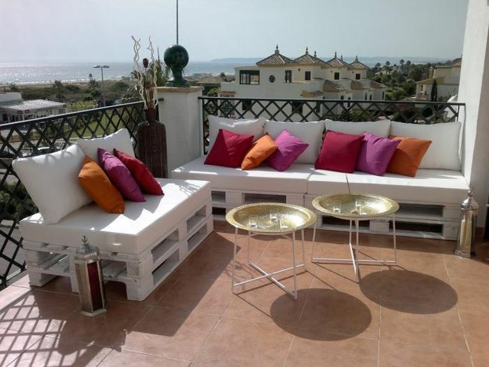 Les meilleures id es pour la terrasse en palette for Decoracion chill out