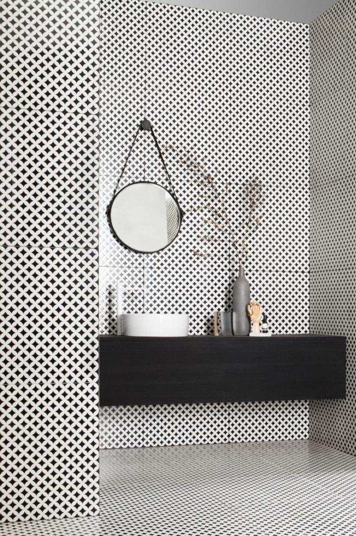 Faience noir et blanc carrelage damier noir et blanc - Carrelage damier noir et blanc salle de bain ...