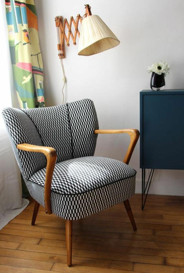 fauteuils-cabriolet-mini-fauteuil-blanc-noir-pour-le-salon-classique
