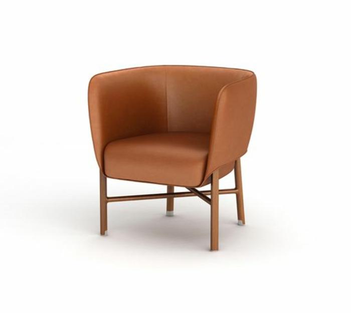 Le fauteuil cabriolet en 40 super photos - Fauteuil cabriolet cuir marron ...