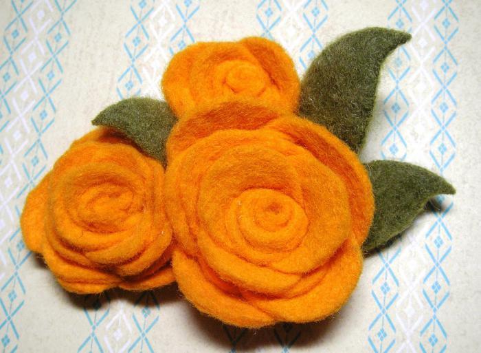 fleurs-en-feutrine-bouquet-orange-feutrine