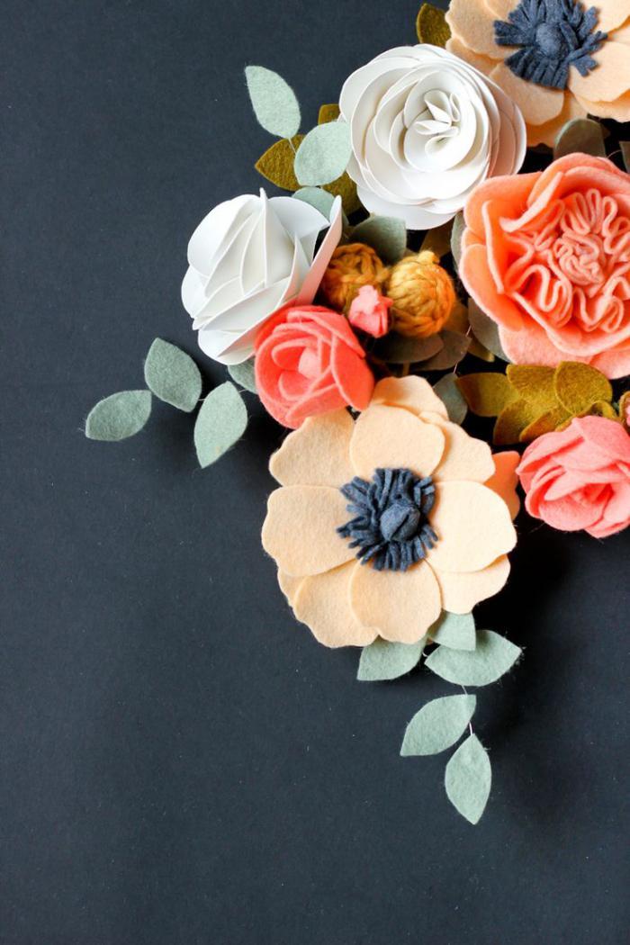 fleurs-en-feutrine-décorer-avec-des-fleurs-en-feutre