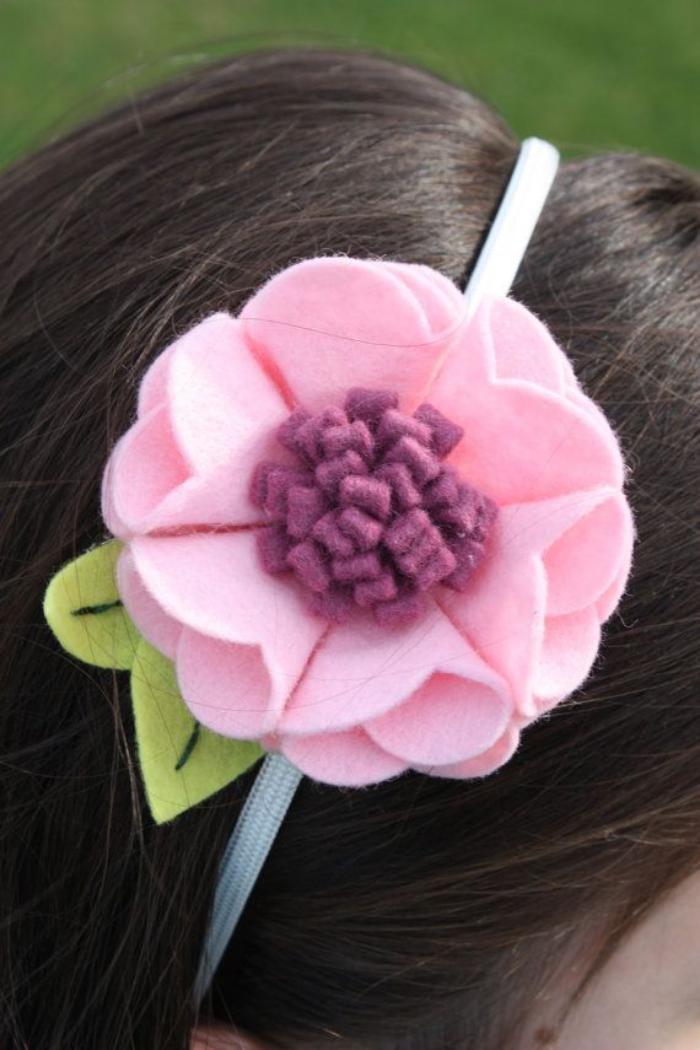 fleurs-en-feutrine-diadème-couronne-avec-fleur-rose