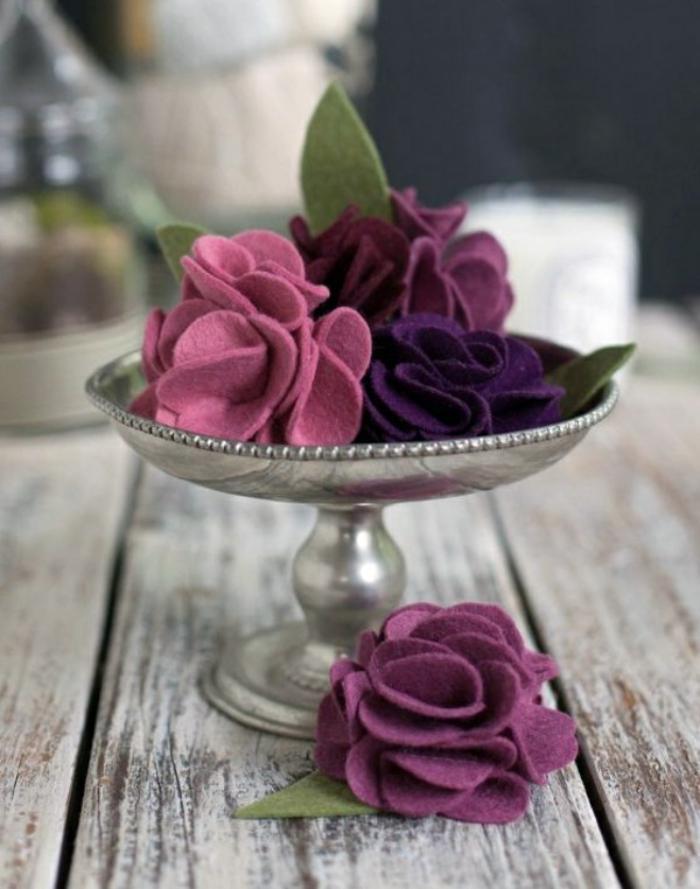 fleurs-en-feutrine-idées-créatives-de-fleurs-diy