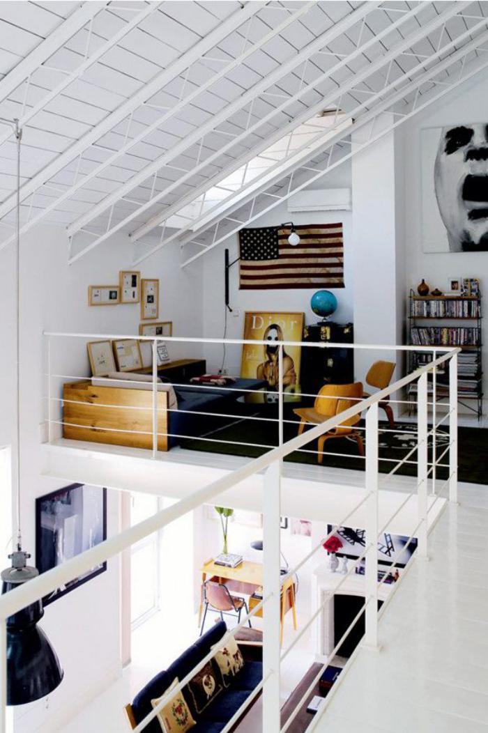 Le garde corps mezzanine jolies id es pour lofts avec mezzanine - Rambarde interieur maison ...