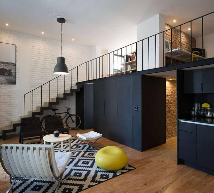 le garde corps mezzanine jolies id es pour lofts avec mezzanine. Black Bedroom Furniture Sets. Home Design Ideas