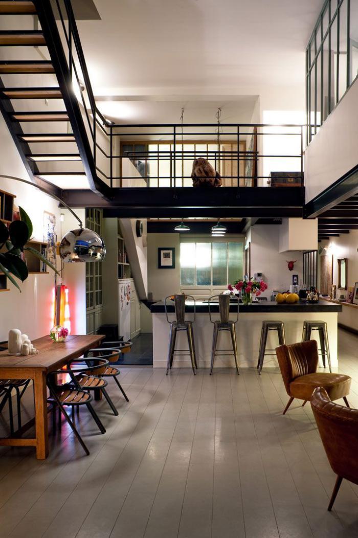 Le Garde Corps Mezzanine U2013 Jolies Idées Pour Lofts Avec Mezzanine | Maison  ...