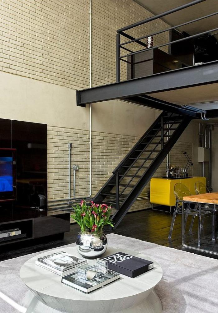 garde-corps-mezzanine-balustrade-en-métal-noir