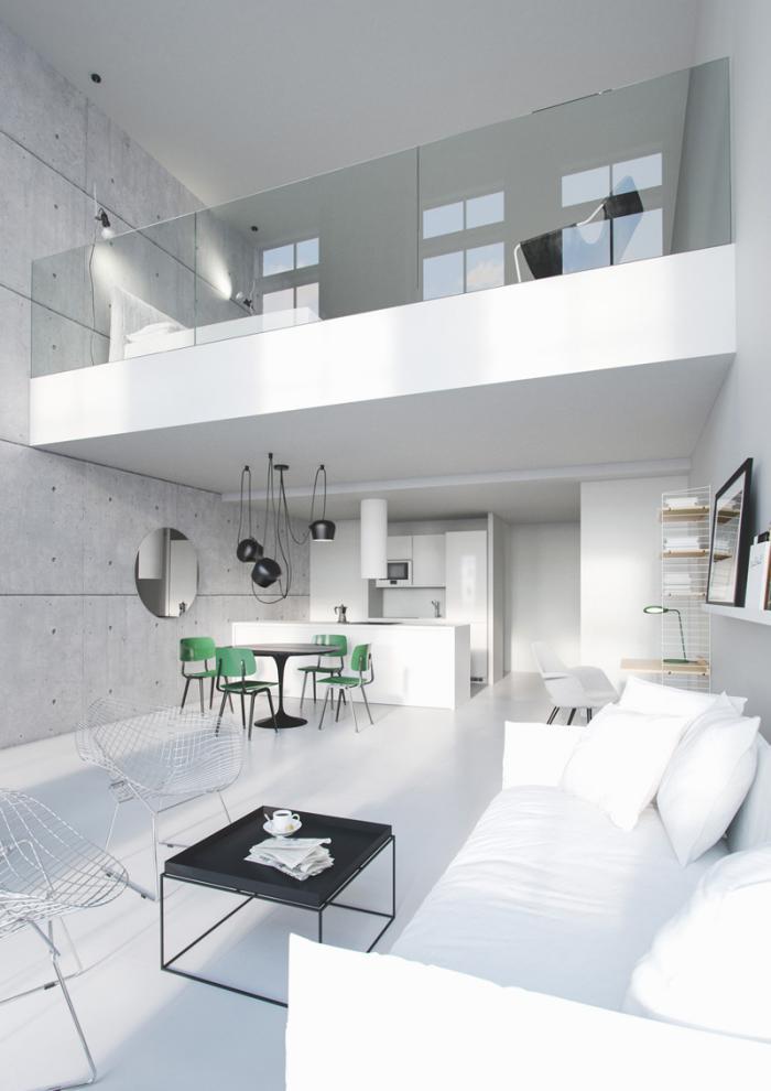 idee amenagement mezzanine meilleures images d. Black Bedroom Furniture Sets. Home Design Ideas