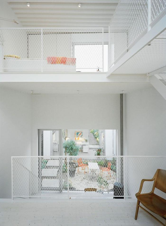 Le garde corps mezzanine jolies id es pour lofts avec mezzanine - Barriere pour mezzanine ...