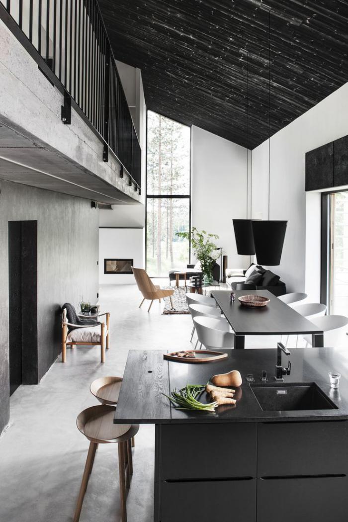 le garde corps mezzanine jolies id es pour lofts avec mezzanine. Black Bedroom Furniture Sets. Home Design Ideas
