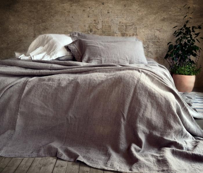 housse-de-couette-bicolore-chamber-à-coucher-lin