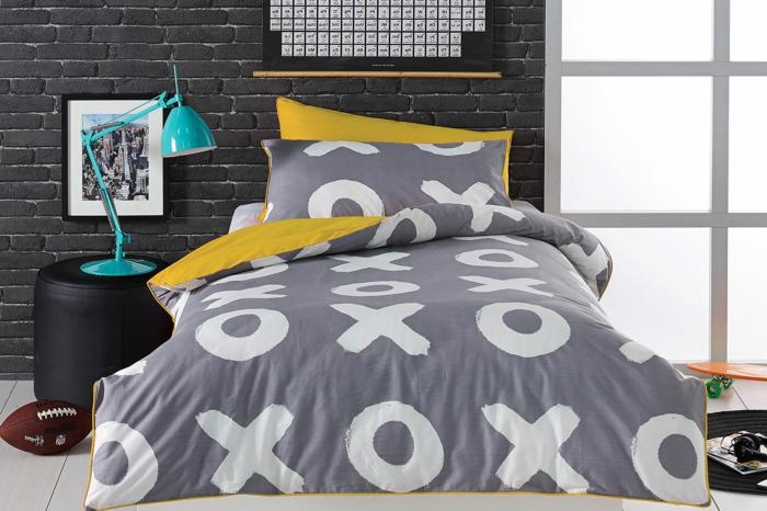 housse-de-couette-bicolore-chamber-à-coucher-xoxo