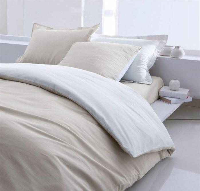 housse-parure-de-lit-bicolore-idée-décoration-chambre-adulte
