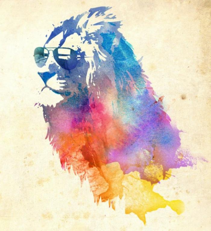 idée-arts-graphique-peinture-artiste-original-beau-lion