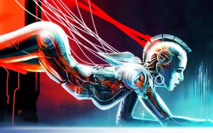 idée-arts-graphique-peinture-artiste-original-la-femme-androide