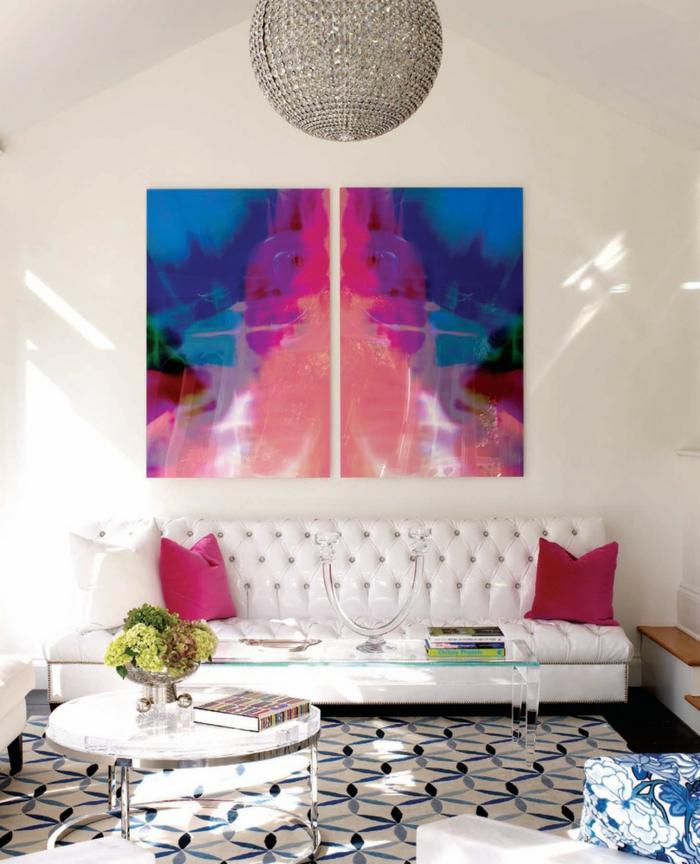 idée-déco-salon-peinture-decoration-salon-salle-de-séjour-ambiance-art-abstrait