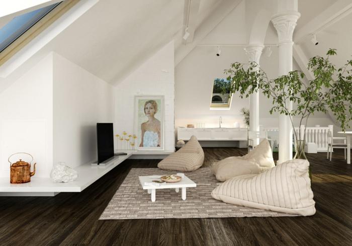 idée-déco-salon-peinture-decoration-salon-salle-de-séjour-cool-plante-vert