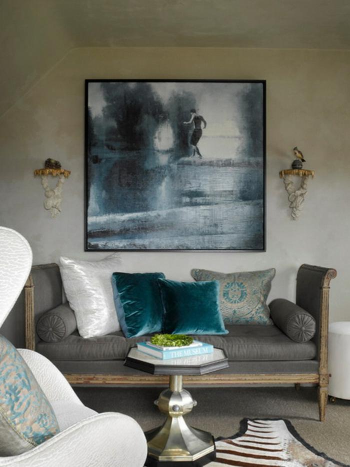 idée-déco-salon-peinture-decoration-salon-salle-de-séjour-sombre