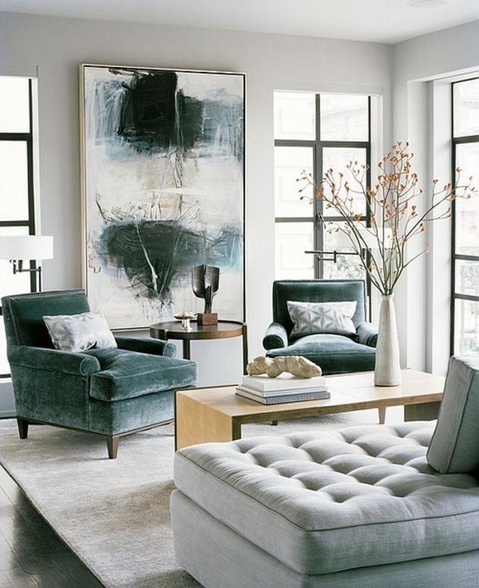 idée-déco-salon-peinture-decoration-salon-salle-de-séjour-tout-gris