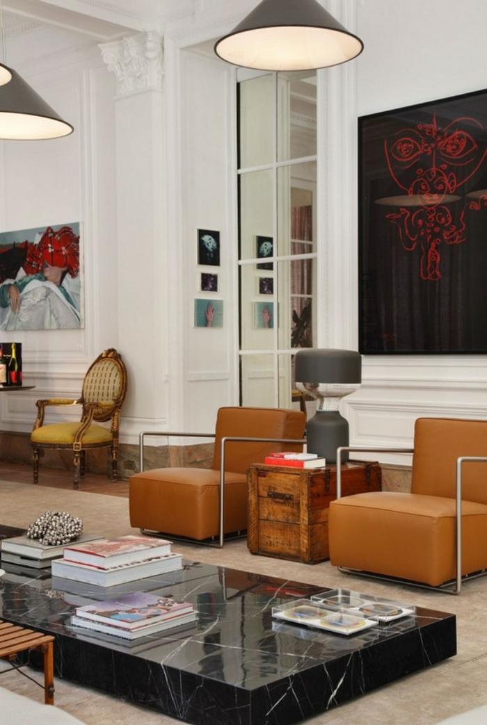 idée-déco-salon-peinture-decoration-salon-salle-de-séjour-vintage