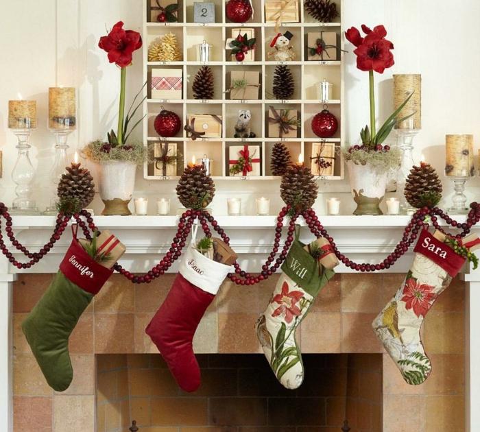 idée-décoration-noel-fait-maison-intérieur-chic-déco-cheminée