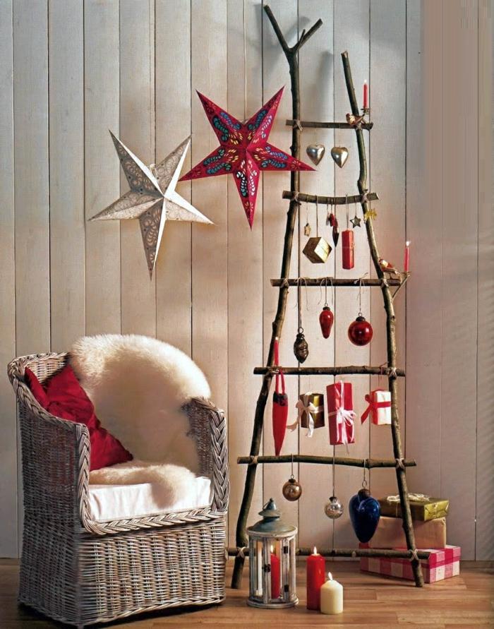 idée-décoration-noel-fait-maison-intérieur-chic-déco-echelle
