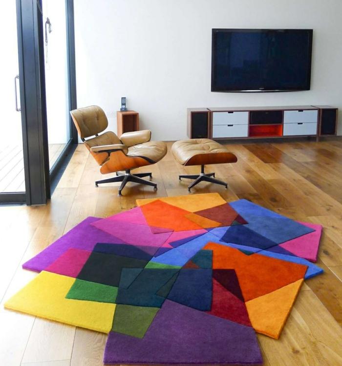 idée-le-tapis-moderne-pour-salon-choisir-intérieur-couleur