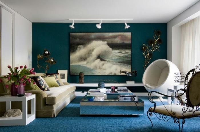 la meilleure id e peinture salon en 40 images peinture moderne pour salon