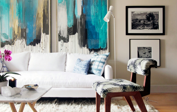 idée-peinture-salon-idee-deco-salon-à-décorer-bien-idée-art-abstrait