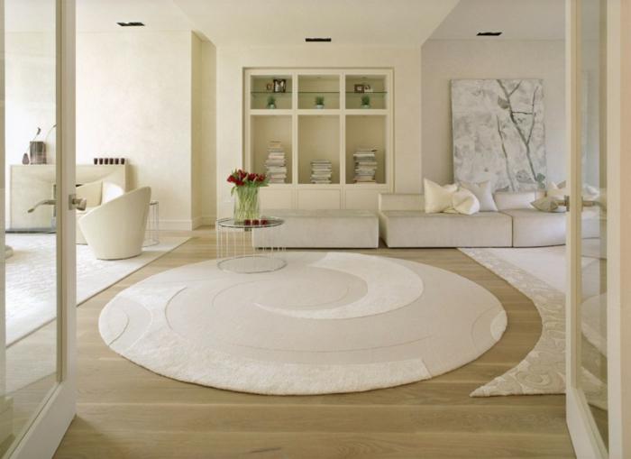 idée-quel-tapis-moderne-pour-salon-choisir-intérieur-cool-séjour-mode