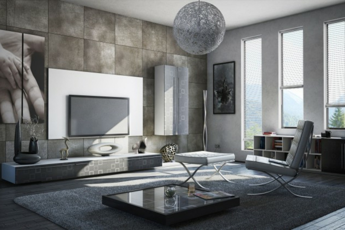 idée-quel-tapis-moderne-pour-salon-choisir-intérieur-salle-de-sejour-obscure