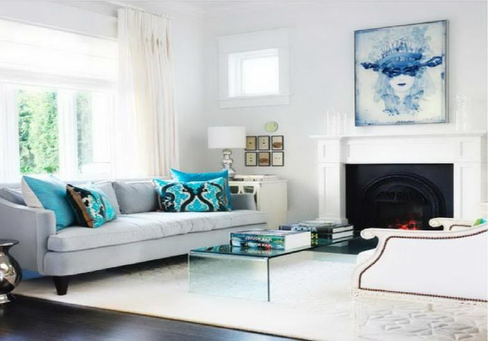 idée-quel-tapis-salon-choisir-intérieur-moderne-bleu-et-blanc