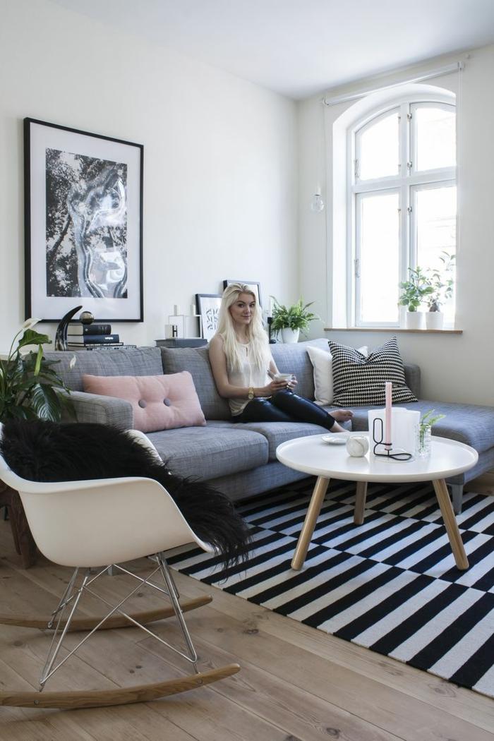 Rideau De Salon Blanc Et Noir : Tapis salon moderne le tapis design en tendance