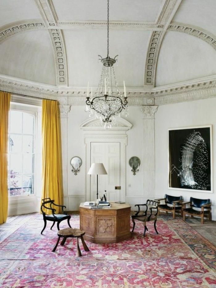 idée-tapis-chambre-fille-coloré-décoration-beau