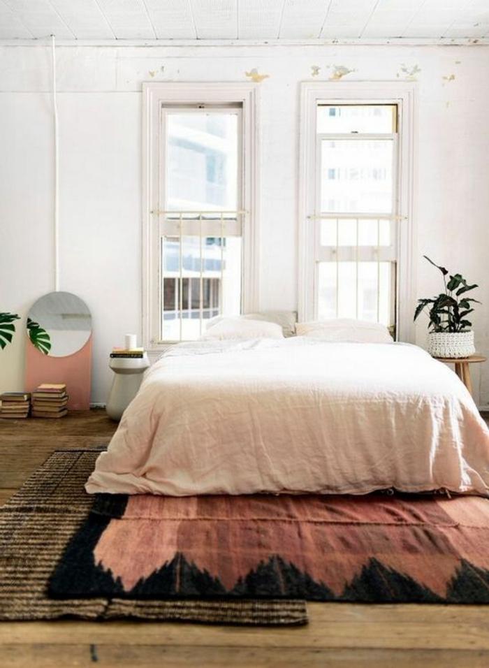idée-tapis-chambre-fille-coloré-décoration-cool-vintage-déco