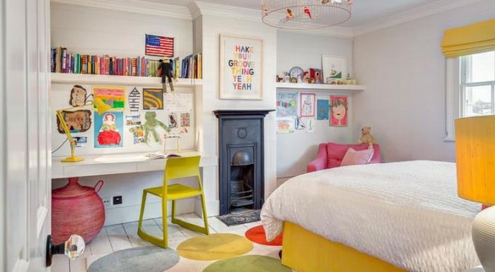 idée-tapis-chambre-fille-coloré-décoration-cool
