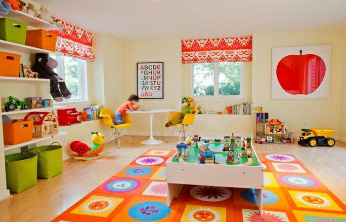 idée-tapis-chambre-fille-coloré-décoration-jouer